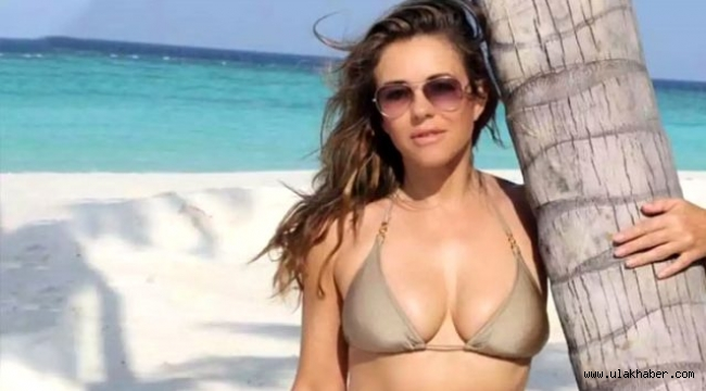 55 yaşındaki İngiliz model Elizabeth Hurley, bikinili pozlarıyla gençlere taş çıkarttı