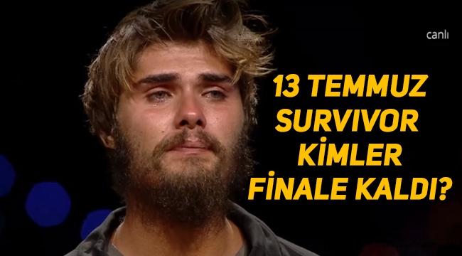 Survivor'da 13 Temmuz yarı finalde kim elendi? Survivor finale kimler çıktı, kimler finalist oldu? Survivor 2020 13 Temmuz Pazartesi SMS sonuçları