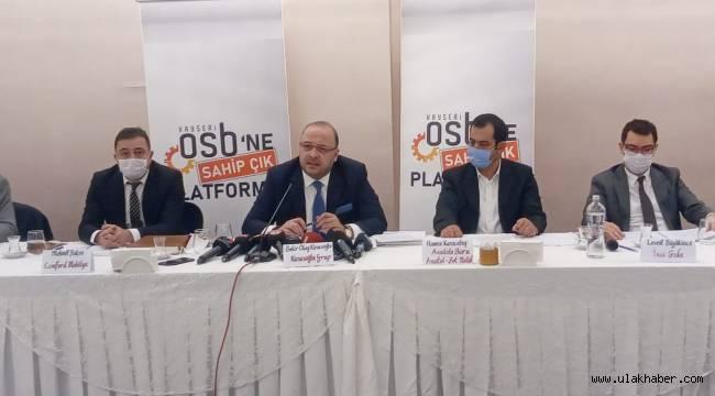 """""""Kayseri OSB'nin 200 milyon TL borcu var"""""""