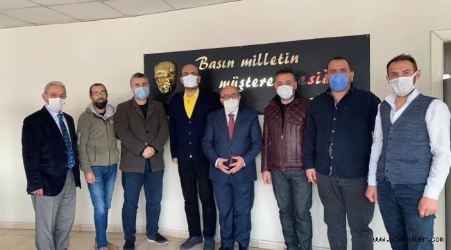 Kayseri İnternet Habercileri Birliği, ilk ziyaretini Gazeteciler Cemiyeti'ne yaptı