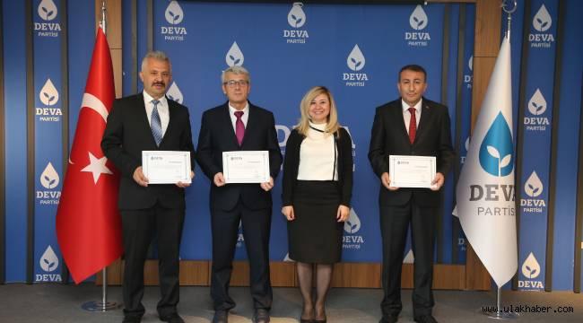 DEVA Kayseri'de 3 ilçe başkanı belli oldu