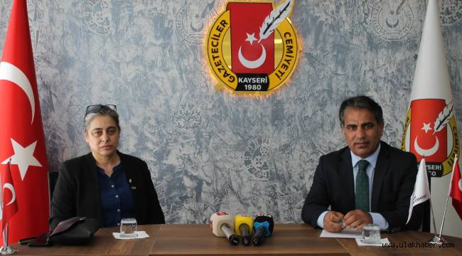 İyi Parti Melikgazi İlçe Teşkilatı Gazeteciler Cemiyeti'ni ziyaret etti