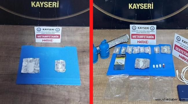 Kayseri'de 2 ayrı uyuşturucu operasyonunda 2 kişi tutuklandı