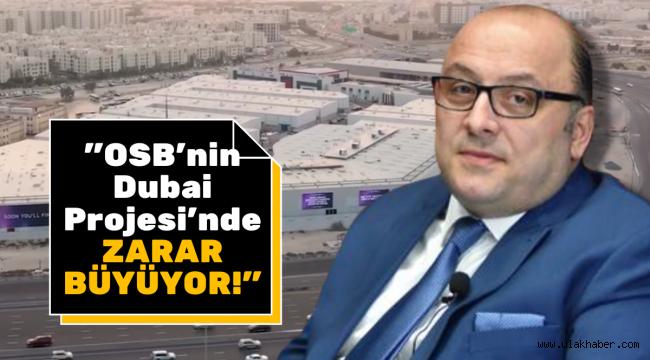 """""""OSB'nin Dubai projesi teşvik kapsamından çıkıyor, zarar büyüyor"""""""